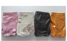 Lingerie Mens Faux Pas Cher-Mens Faux Leather Underwear Hot Sexy Penis Pouch Boxers Shorts Underpants Black Gold Silver Underwear