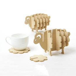 $enCountryForm.capitalKeyWord Canada - Wholesale-Creative Non-heat Pine MDF Coasters Place Mat Office supplies coffee cup Mat Home Decor DIY Handmade Coaster Cute Sheep Shape