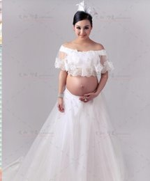 $enCountryForm.capitalKeyWord NZ - Couple Fashion Maternity Dresses Photography Props Summer Beach White Lace Maternity Long Dress Pregnant Photography Dresses