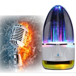 led dancing water wireless bluetooth NZ - 2017 Hot wireless Bluetooth Water Dancing Speaker Subwoofer LED light Music Speaker With TF Card Stereo Bass For Iphone Android phone PC