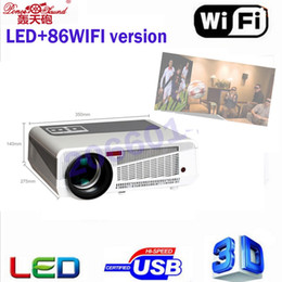 $enCountryForm.capitalKeyWord Australia - Wholesale- 2017 Poner Saund Full HD Projector 5000 lumens LED Android4.4 Wifi Smart Multimedia video 3D Proyector Full hd for home theate