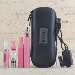 e liquid vape pens 2019 - eVod 3 in 1 Vape Pen Starter Kits EVOD vape pens EGO 510 Battery for Wax Dry Herb Vaporizer e cig E Liquid vapors All in