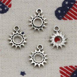 $enCountryForm.capitalKeyWord Australia - Wholesale- 325pcs Charms sun steampunk gear 12*15mm Pendant Tibetan Silver Pendant For DIY Necklace & Bracelets Jewelry Accessories