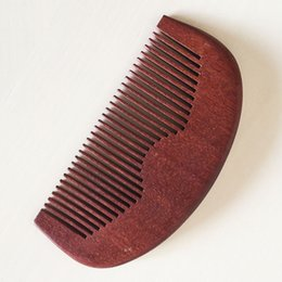 Chinese  New business gift Beard Comb Wooden Hair Brush Handmade Pocket Amodong Fine Tooth HairBrush MEN Grooming Business Gift Wholesale manufacturers