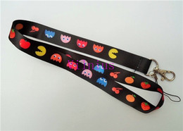 Chinese  Hot SALE! 30PCS NEW Pacman Fruity Game Neck Lanyard Strap Cell Mobile Phone ID Card Key chain manufacturers