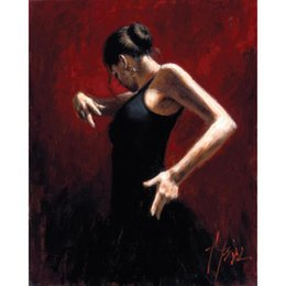 Flamenco dancer oil paintings online shopping - Handmade woman paintings Flamenco Dancer oil on canvas Painting decorative art for home decor