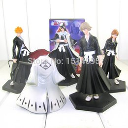 $enCountryForm.capitalKeyWord Canada - 4pcs set Bleach Kurosaki Ichigo Kuchiki Byakuya PVC Action Figure Model Toy Doll BL014