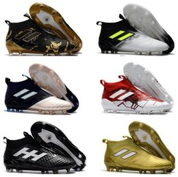 9bf70441e88d Men Blackout Football Boots Canada - Cheap ACE 17.1 FG leather soccer cleats  for men soccer