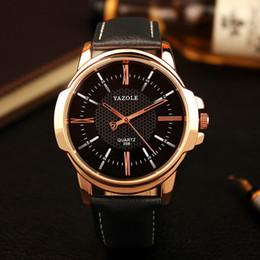 NUEVO YAZOLE Reloj de pulsera de oro rosa para hombre de primeras marcas a prueba de agua Reloj de pulsera de lujo para hombre Reloj de cuarzo Hodinky Reloj de cuarzo Hodinky Relogio en venta