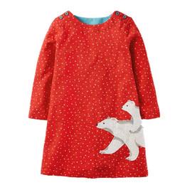 EmbroidErEd linE flowEr girl drEss online shopping - Flower Girl Princess Dress with Appliqued Long Sleeve Cotton Girl Jersey Dress for Children Clothing