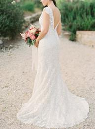 $enCountryForm.capitalKeyWord Canada - 2019 Elegant lace Simple full Lace mermaid wedding dress sheath V-neck fairy plus size wedding dress New Column Garden bridal gowns