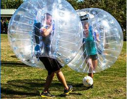 Großhandel Neue Design Safty Umweltschutz 0,8mm PVC 1,5 mt Luftstoßkugel Ball Körper Zorb Ball Blase Fußball Blase Fußball Zorb Ball für Erwachsene Oder