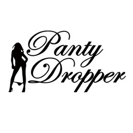 personalized word art UK - For Panty Dropper Sticker Funny Personality Vinyl Drift Hot Jdm Stance Sexy Art Decal Car Styling Accessories Graphics