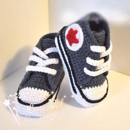 Prewalker Sandals Canada - High quality baby crochet sneakers shoes shoe booties,Handmade 5 star sneaker shoe sandals prewalker for infants toddlers kids,5 sizes