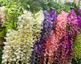 12pcs Lot Artificial 110CM Home Decor Wisteria Silk Flower Holiday Decoration Weddings Events Simulation Affordable