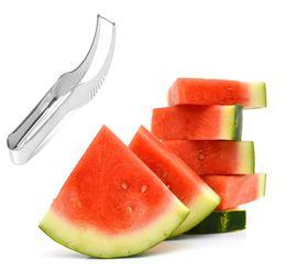 $enCountryForm.capitalKeyWord UK - 2pcs set Watermelon Slicer Cutter Fruit Cutters Stainless Steel Knife Corer Splitter Fruit Slicer Cantaloupe Watermelon