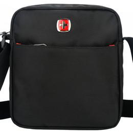 Free Shipping Men Shoulder Bags Canada - Wholesale- SCOGOLF black shoulder bags for men messenger bags waterproof nylon crossbody bag free shipping 5600