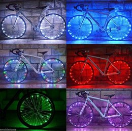 leds bike wheels NZ - Bicycle Cycling Colorful Cool 20 LEDs Safety Spoke Wheel Light Bike Accessories.