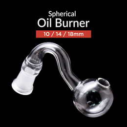 Best pipes online shopping - Best Glass oil burner pipe thick mm mm mm Male Female pyrex clear oil burner curve water pipe for smoking water bongs