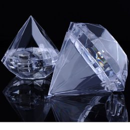 $enCountryForm.capitalKeyWord NZ - 200pcs Clear Plastic Diamond Candy Boxes Wedding Favor Box Candy Holders Banquet Giveaways WA2456
