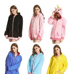 Long styLe women s jackets online shopping - Animal Fleece Zipper Hoodies Kawaii Anime Hoody Jacket Hoodie With Ears Cartoon Hooded Coats Styles LJJO3317