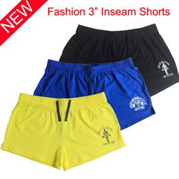 $enCountryForm.capitalKeyWord NZ - Wholesale-Bodybuilding Shorts Men Fitness Casual Shorts Golds Mens Compression Shorts Bermuda Masculina Gymwear New Brand Cotton Size M-XL