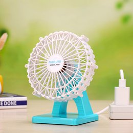 Usb Cooler Switch Canada - Touch Switch Ferris Wheel Fan with Aroma Diffuser Case USB Rechargeable Wheel Fan Adjustable wind Speed with Mosquito repellent box cool Fan