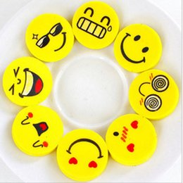 $enCountryForm.capitalKeyWord NZ - 2.5cm Smile Face Erasers Rubber for Pencil Kids Funny Cute Stationery Novelty Eraser Office School Supplies 120pcs=1 BOX