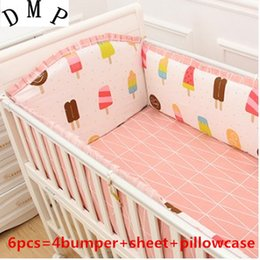 animal cot bumper NZ - Promotion! 6PCS Baby bedding set crib bedding set 100% cotton cot bumper set bedclothes,(bumpers+sheet+pillow cover)