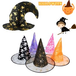 free shipping fashion halloween witch hat wicked witch cap party decoration halloween decor hot sale suitable for children adult gift
