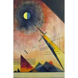 kandinsky landscape paintings 2019 - Modern art Hinauf by Wassily Kandinsky paintings on canvas High quality hand-painted cheap kandinsky landscape paintings