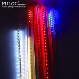 wholesale waterproof 50cm led meteor shower rain light 8 pcs tubes ac110v ac220v for wedding xmas falling raindrop lights raindrop christmas lights on sale - Raindrop Christmas Lights