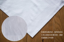 White Cotton Napkins Canada - 50PCS Wholesale With Free Shipping White 100% Cotton 50cm*50cm Square Napkin High Quality For Table Decoration