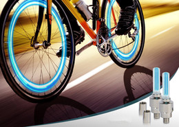 20pcs lumière de buse de gaz de bicyclette LED flash pneu vélo valve de roue capuchon lumière néon avec batterie nouveauté lumière pour moto de voiture vélo