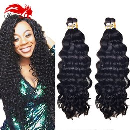 $enCountryForm.capitalKeyWord NZ - Hannah Product Human Hair For Braiding Bulk No Attachment Deep Curly Brazilian Virgin Hair 3Pcs 150gram Human Remy Hair Bulks