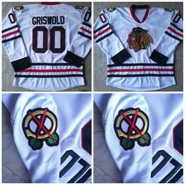 clark griswold hockey jersey 2019 - #00 Clark Griswold Jerseys Chirstmas Vacation Movie Hockey Jerseys All Stiched Free Shipping Accept Mix Order White Colo