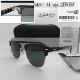 AAAA + lente de Vidro de qualidade 51 MM Marca Designer de Moda Homens Mulheres Plank frame Revestimento Óculos De Sol Do Esporte Do Vintage óculos de Sol Com caixa