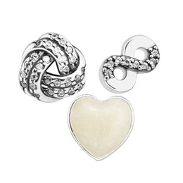Locket Love NZ - mother's day gift Infinite Love Petites Charm for Locket necklace Charms Fits Pandora Bracelet sterling silver jewelry making charms