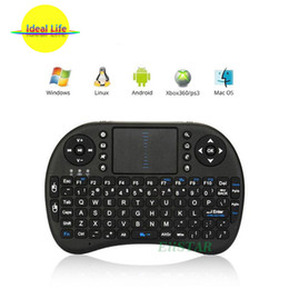Google Mini Tv Box Canada - Rii i8 Portable Mouse Combo 2.4G Wireless Mini Keyboard with Touchpad combo with interface adapter for PC Pad Google Andriod TV Box Xbox360