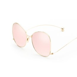 Chinese  Wholesale- Classic Vintage Round Mirror Brand Designer Sunglasses for Women Metal Lady Circle UV400 Ladies Sun Glasses Female manufacturers