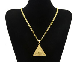 $enCountryForm.capitalKeyWord Canada - TOP quality Gold Egyptian Pyramid Pendant Charm Necklace Gold Color Stainless Steel Necklace Chain Women Men Fashion Egypt Jewelry drop ship