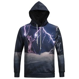 Chinese  Wholesale-Mr.1991INC&Miss.GO 2016 Mens Funny Hoodies 3D Lightning Cat Sweatshirt for Men Assassins Creed Hooded Clothing Man Tracksuit Top manufacturers