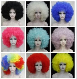 $enCountryForm.capitalKeyWord NZ - free shipping beautiful charming hot New Fashion CURLY AFRO WIG CIRCUS CLOWN UNISEX FANCY DRESS FOOTBALL SPORT WIG 9 Color select