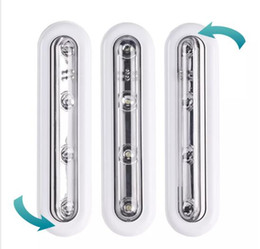 Ingrosso Batteria a LED a diodo bianca a batteria su parete con lampade a luce attiva