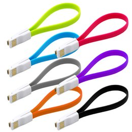 $enCountryForm.capitalKeyWord NZ - Magnet Micro USB Data Sync Cable Magnetic Cables 22cm Flat Short Line Charger For Samsung GalaxyS4 S3 S2 Note2 HTC Phone 05