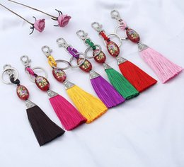 Mix Color Ball Chain NZ - New arrival Bag mobile phone pendant national multi - color tassel weaving key chain KR130 Keychains mix order 20 pieces a lot