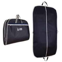 47f19fea2d58 Wholesale- Coat Clothes Garment Suit Cover Bags Dustproof Hanger Storage  Protector Travel Storage Organizer Case