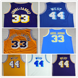 bb9b885f49c7 ... best price wholesale 33 kareem abdul jabbar basketball jerseys cheap  throwback 44 jerry west jersey shirt