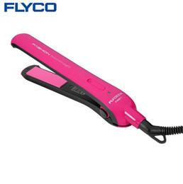 mini electric splint straight hair 2019 - Flyco Professional Styling Tools electric hair straightener Curling Iron perm ceramic mini splint roll dual pull straigh