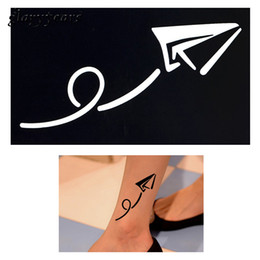 Stencils For Body Painting Canada - Wholesale-New 1pc Small Henna Indian Tattoo Stencil Drawing for Airbrush Painting Flying Kite Body Art Tattoo Stencil Childhood Memory G54